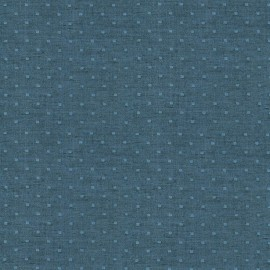 Tissu double gaze de coton Chambray Dobby - marine x 10cm