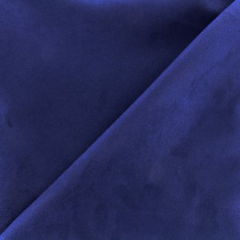 Suede Fabric Volige - navy blue x 10cm