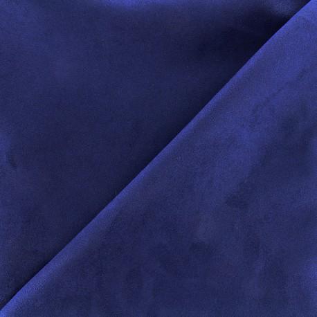Tissu Suédine Volige - bleu navy x 10cm