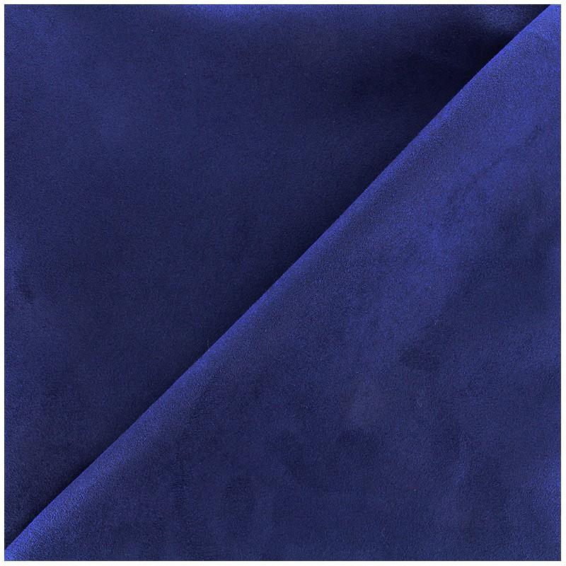 Suede Fabric Volige Navy Blue X 10cm