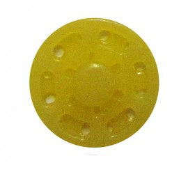 Plastic sew-on snap button - yellow