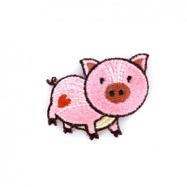 Thermocollant Joyeux Cochon - rose
