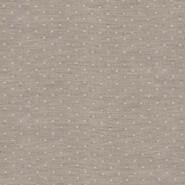 Tissu double gaze de coton Chambray Dobby - natural x 10cm