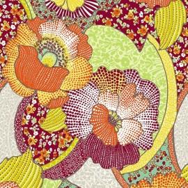 Tissu enduit coton Kezia - orange x 10cm