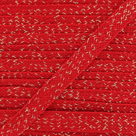 Carnaval flat braid cord - red