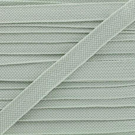 Carnaval flat braid cord - mint/shiny