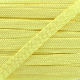 Carnaval flat braid cord - yellow/shiny