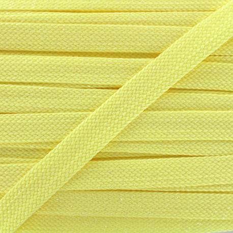 Carnaval flat braid cord - yellow/shiny