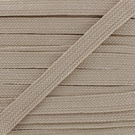 Carnaval flat braid cord - taupe/shiny