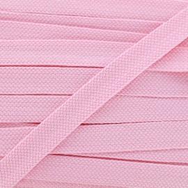 Carnaval flat braid cord - pink/shiny
