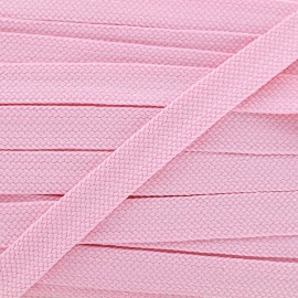 Cordon plat tressé Carnaval - rose/brillant