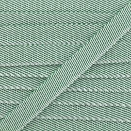 Ruban chambray Guinguette - vert