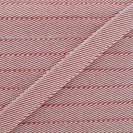 Ruban chambray Guinguette - rouge