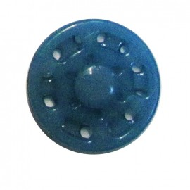 Plastic sew-on snap button - blue