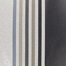 Tissu enduit coton Urrugne - noir x 10cm