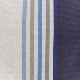 Tissu enduit coton Urrugne - bleu x 10cm