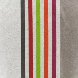 Tissu enduit coton Urrugne - multicolore x 10cm