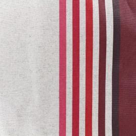 Tissu enduit coton Urrugne - rouge x 10cm