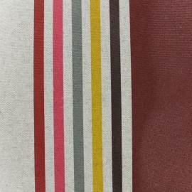 Coated cotton fabric Urrugne - burgundy x 10cm