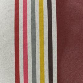 Tissu enduit coton Urrugne - bordeaux x 10cm