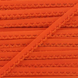 Petite pétale elastic ribbon 10 mm - orange x 1m