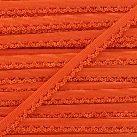 Ruban élastique Petite pétale 10 mm - orange x 1m