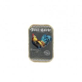 Thermocollant Le coq - post card bleu
