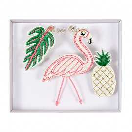 Embroidered brooches Meri Meri - Tropical