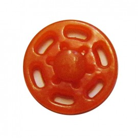 Plastic sew-on snap button - orange