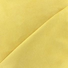 ♥ Coupon 160 cm X 145 cm ♥  Tissu Suédine Volige - jaune clair