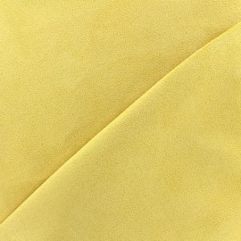 Suede Fabric Volige - light yellow x 10cm