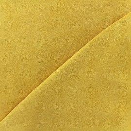 Suede Fabric Volige - amber yellow x 10cm