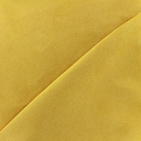 Tissu Suédine Volige - jaune ambre x 10cm