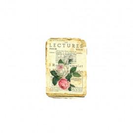 Empiècement à thermocoller L'herbier des roses - lectures pour tous