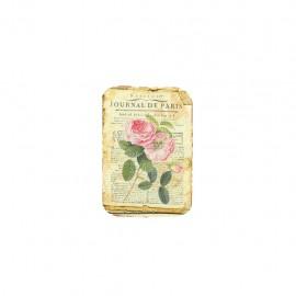 Empiècement à coudre L'herbier des roses - journal de Paris