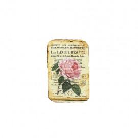Empiècement à coudre L'herbier des roses - almanach