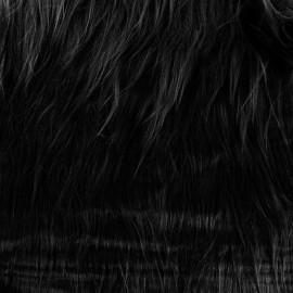 Fourrure Yéti - noir x 10cm