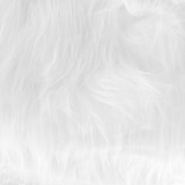 Fourrure Yéti - blanc x 10cm