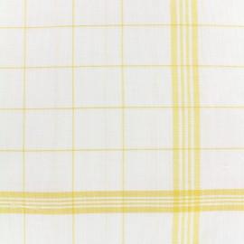 Tissu torchon essuie verre - jaune/blanc x 10cm