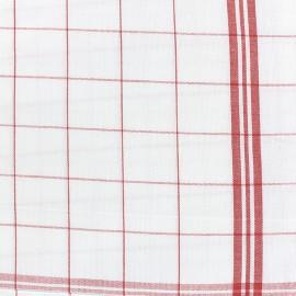 Tissu torchon essuie verre - rouge/blanc x 74cm