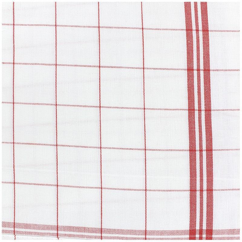 Tissu torchon essuie verre , rouge/blanc x 10cm