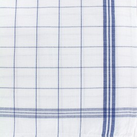 Glass cloth fabric - blue/white x 75cm