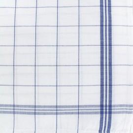 Tissu torchon essuie verre - bleu/blanc x 10cm