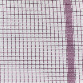 Gaufrex cloth fabric - lie de vin x 82cm