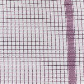 Gaufrex cloth fabric - lie de vin x 82cm