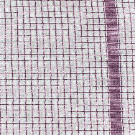 Gaufrex cloth fabric - lie de vin x 10cm