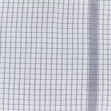 Gaufrex cloth fabric - grey x 10cm