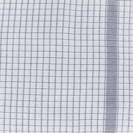 Tissu torchon Gaufrex - gris x 10cm