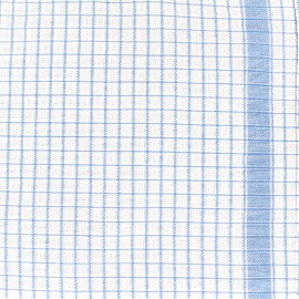 Gaufrex cloth fabric - blue x 82cm