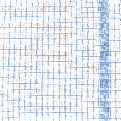 Tissu torchon Gaufrex - bleu x 10cm